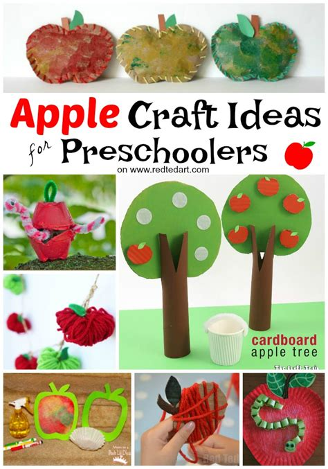 27 easy apple craft ideas ted s 494 | Apple crafts preschoolers