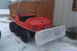 Homemade ATV Snow Plow