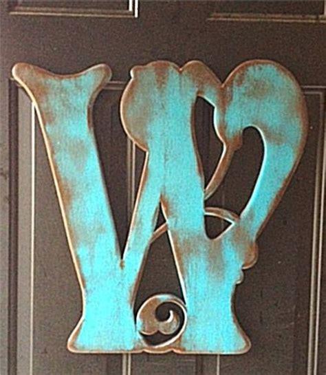 wooden letter  door hanger  displaying    home pinterest fonts colors