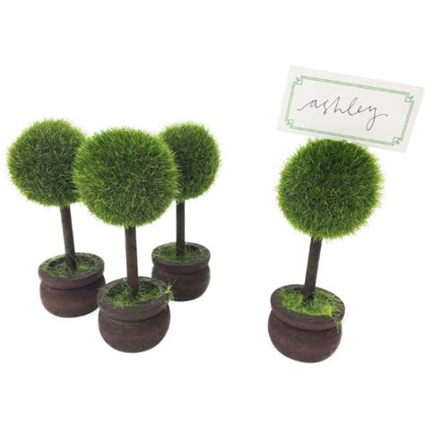 Round Topiary Place Card Holders 4pcs