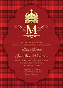 highland inspired wedding invitation bring out the tartan With wedding invitations with tartan