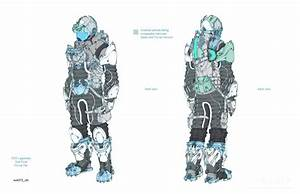Dead Space 3 video game futuristic suit concept art, from ...