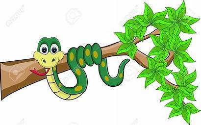 Snake Cartoon Funny Clipart Illustration Vector Jungle