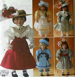 18 Doll Victorian Dresses Sewing Pattern Simplicity 7998