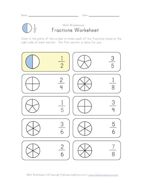 Fraction Color By Number Worksheet  Search Results  Calendar 2015