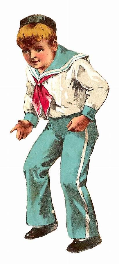 Boy Sailor Clip Antique Clipart Illustration Digital