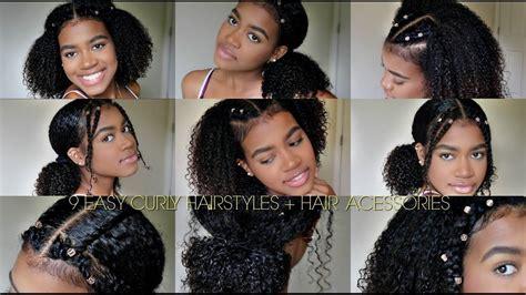 easy curly hairstyles natural hair hair cuffs hair