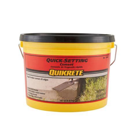 depot quikrete quikrete 10 lb setting cement concrete mix 124011 Home
