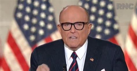 "Giuliani, new york, new york. Rudy Giuliani At RNC: ""Don't Let Democrats Do To America ..."