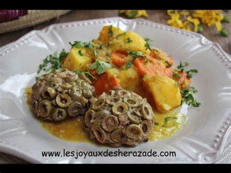 cuisine recette algerien cuisine algerienne viande hachée moulée aux olives متبل