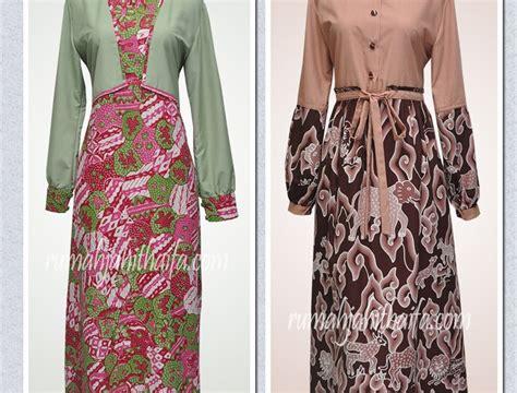 baju gamis batik  ibu ibu gamis abadi