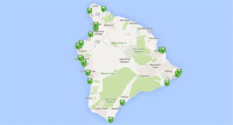 island hawaii map beaches beach