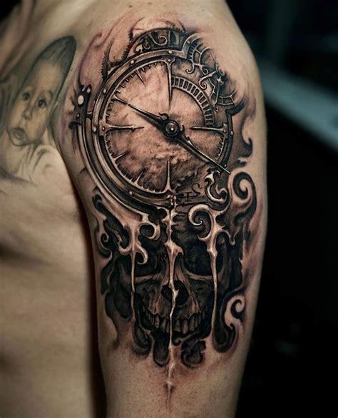 clock skull tattoos skull tattoos tattoos forearm