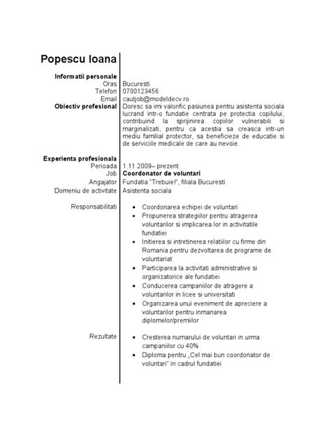 Resume Model Doc by Model De Cv Student