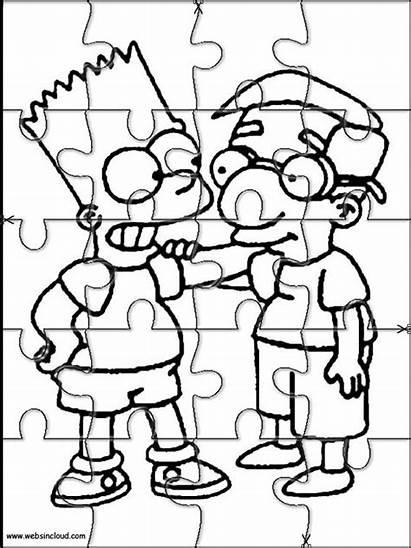 Simpson Websincloud Puzzles Colorear Jigsaw Simpsons Recortables