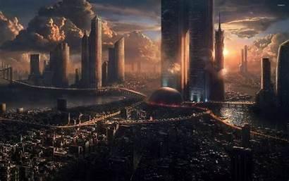 Future 3d Futuristic Fantasy Wallpapers Backgrounds Wallpaperaccess