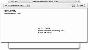 idata 21 With envelope address printing template
