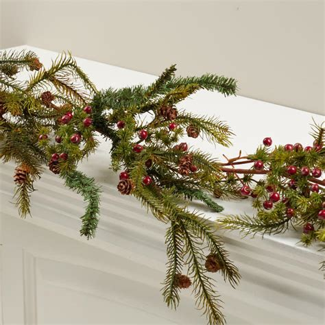 artificial pine and berry garland on sale holiday crafts