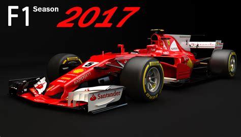F1 Model Cars by 3d F1 Sf70h 2017 Model Turbosquid 1180004