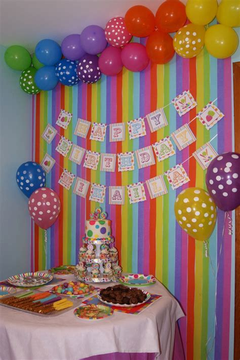 Decorating Ideas Ninetieth Birthday by Colourful Backdrop For