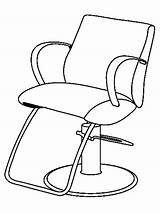 Barber Coloring Pages Chair Drawing Salon Printable Jobs Beauty Getcolorings Getdrawings sketch template