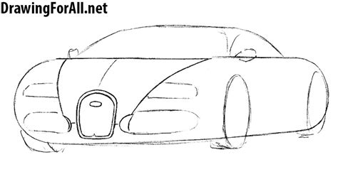 How to draw a bugatti veyron step by step easy. How to Draw a Bugatti   Drawingforall.net