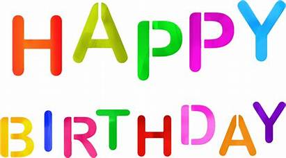 Birthday Happy Sign Colorful Background Transparent Clipart