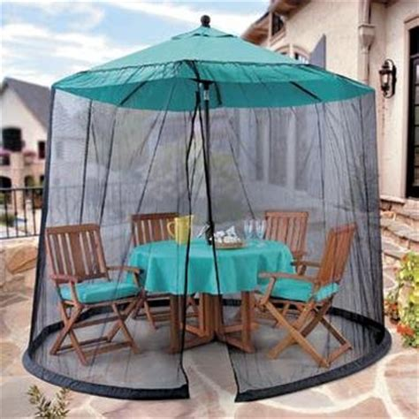 Patio Umbrella With Netting by Umbrella Mosquito Net Canopy Patio Table Set Screen House