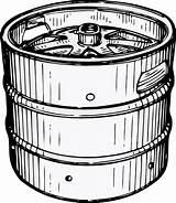 Keg Beer Clip Svg Clipart Clker Vector sketch template