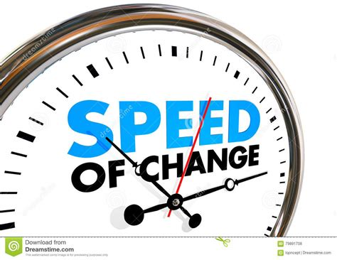Speed Of Change Clock Progress Evolution Time Words Stock