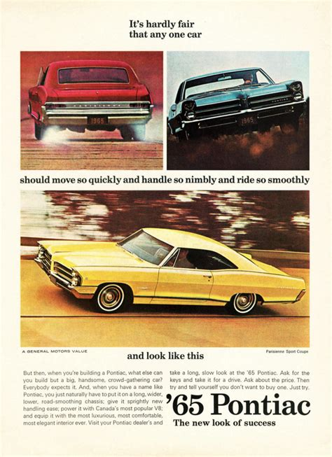 Model-Year Madness! 10 Classic Ads From 1965   The Daily ...