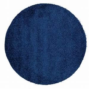 tapis rond bleu marine With tapis rond bleu