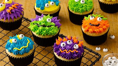 scary monster cupcakes recipe bettycrockercom