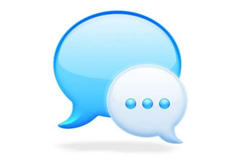 Blue Custom Mac Messages App Icon Png