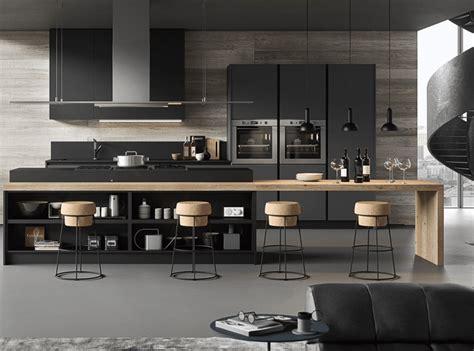 cuisine design en bois et gris anthracite