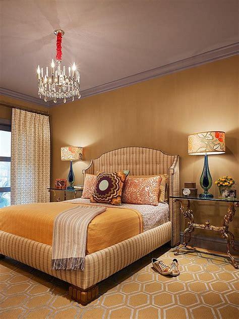 Yellow Southwestern Bedroom Design