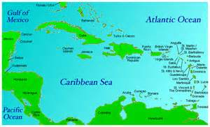 Weather Caribbean Islands Map