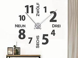 Wandtattoo Weltkarte Uhr : wanduhren als wandtattoos mit zeiger ~ Sanjose-hotels-ca.com Haus und Dekorationen