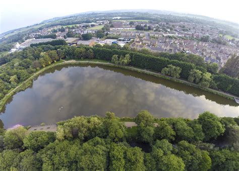 Cwmbran Boating Lake by Cwmbran Boating Lake Aerial Photography Wales