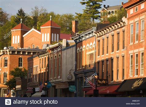 illinois galena main street downtown shopping district in