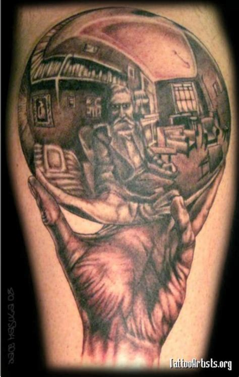 tattoos  mc escher art mental floss