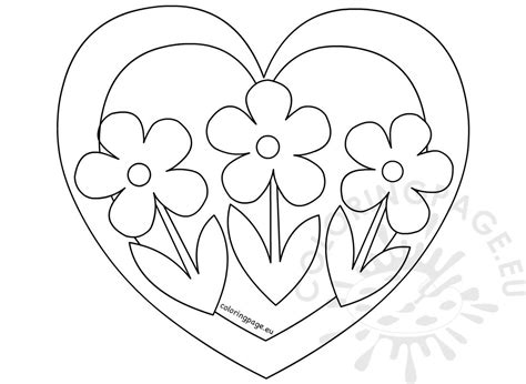 heart   flowers coloring page coloring page