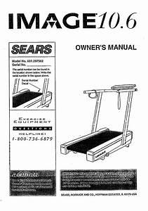 Image 831297562 User Manual 10 6 Treadmill Manuals And