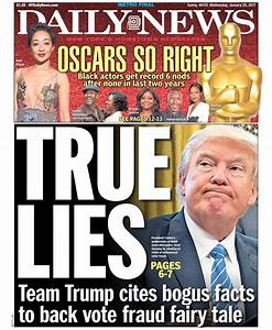A look at tomorrow's front page... true lies team trump ...