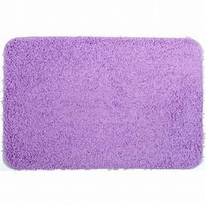tapis de bain shaggy violet clair achat vente tapis de With tapis de bain mauve