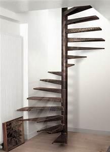 Escalier En Colimaçon : escalier en colima on marche en m tal limon central ~ Mglfilm.com Idées de Décoration