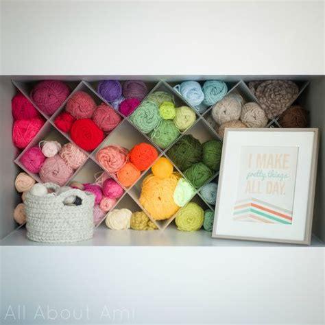 Transform A Plain Shelf Into Beautiful Yarn Storage With