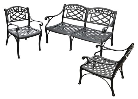 cast aluminum powder coated outdoor furniture kmart