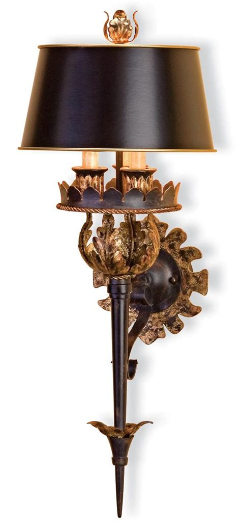 kensington palace wall sconce 27 quot high dramatic black and