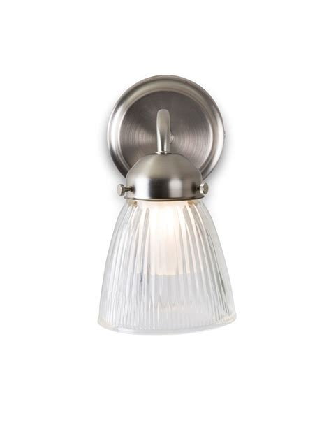 satin nickel la parisienne bathroom wall light  shade